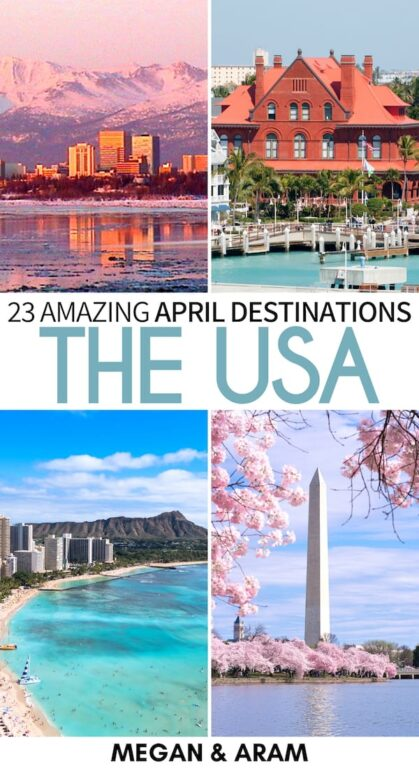 Looking for the best places to visit in April in the USA for your upcoming trip? These destinations are some of the best during spring in the US and will inspire you to go travel! | USA in April | April in USA | USA in spring | Spring in USA | America in April Boston in April | Florida in April | Where to travel in April | California in April | Washington DC April