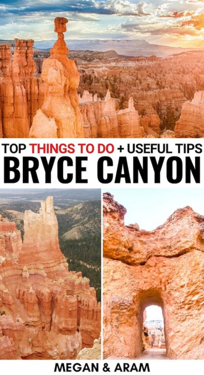 Curious about how to spend one day in Bryce Canyon National Park? This guide discusses how to plan your Bryce Canyon itinerary. | Bryce Canyon hikes | Bryce Canyon camping | Bryce Canyon National Park winter | Bryce Canyon one day itinerary | Bryce Canyon Things to do | Rim Trail | Utah national parks | Visit Bryce Canyon | Travel to Bryce Canyon | Las Vegas day trips | Bryce Canyon winter | Bryce Canyon summer | Bryce Amphitheater | Sunrise Point | Inspiration Point | Navajo Loop Trail