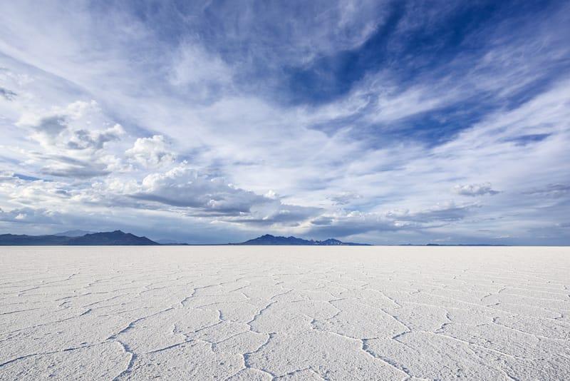 Bonneville Salt Flats near Salt Lake City