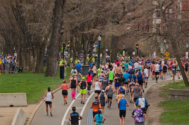 Boston Marathon in April