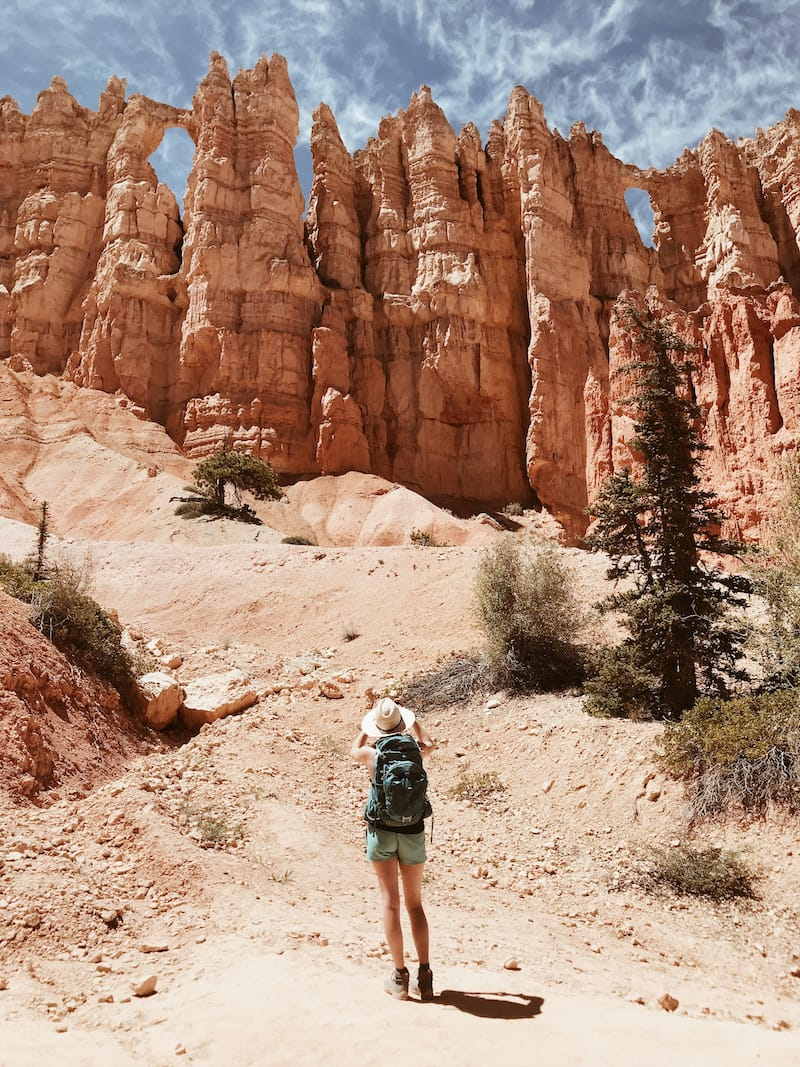 Female hiking in Bryce Canyon National Park