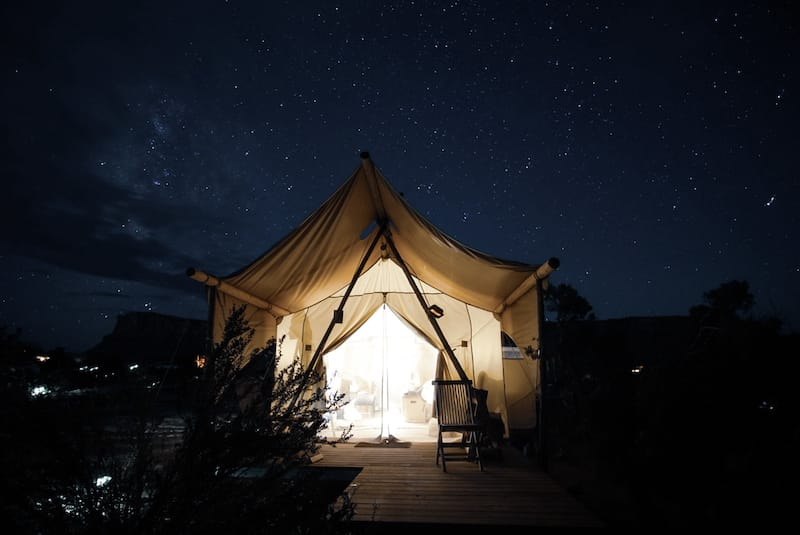 Glamping in Moab - Colorado to California road trip