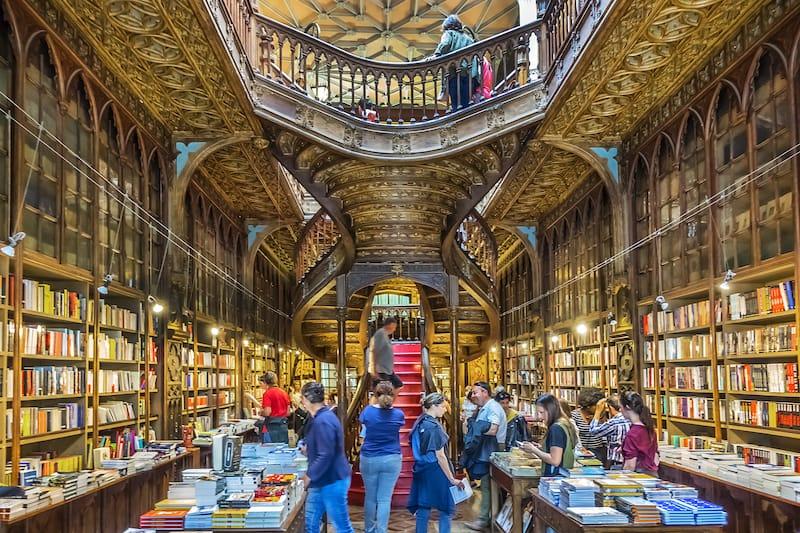 Livraria Lello Bookstore - Editorial credit- Kiev.Victor - Shutterstock.com