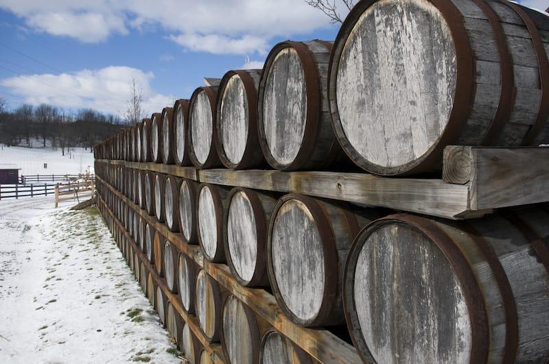 Ohio wine barrels