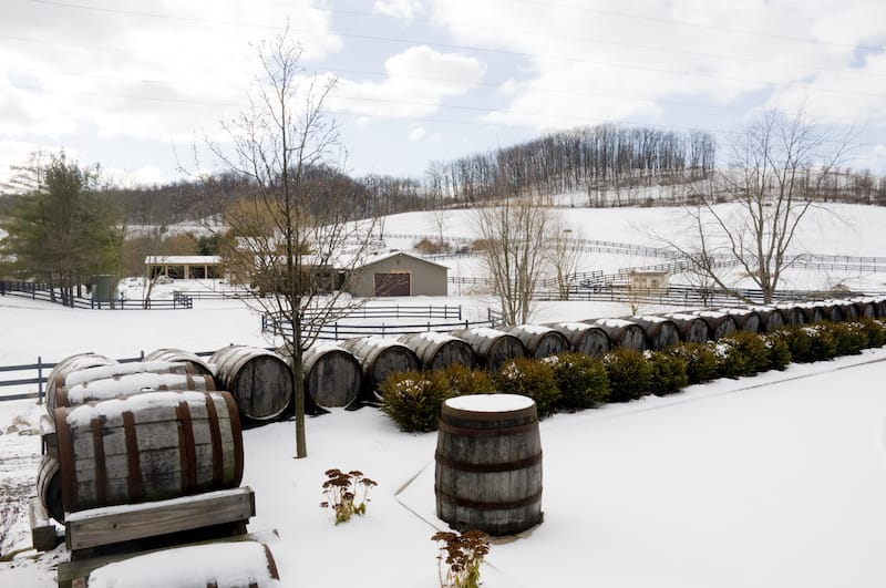 Ohio winery during winter