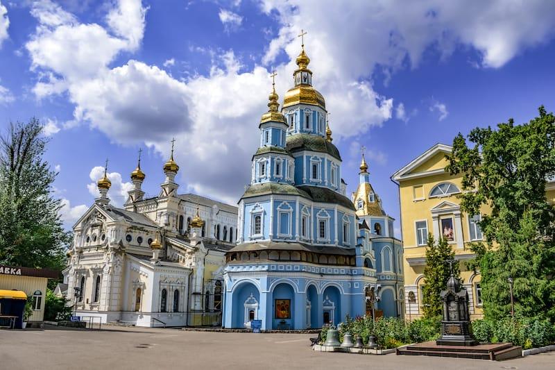 Pokrovsky Cathedral and Temple of the Mother of God Ozeryansky