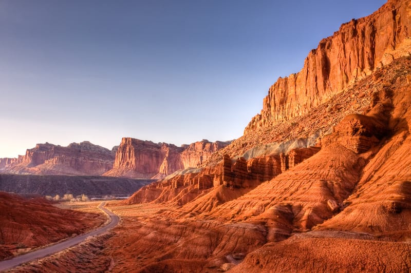 Road through Capitol Reef National Park