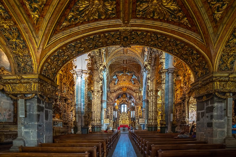 St. Francis Church in Porto Editorial credit- Mate Karoly - Shutterstock.com