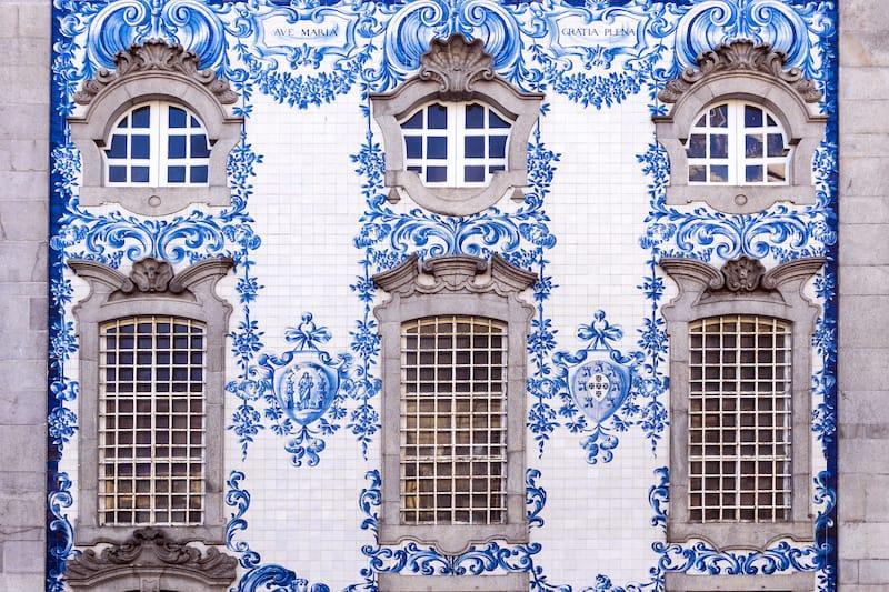 Traditional historic facade in Porto