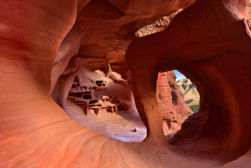 Windstone Arch or fire cave, Valley of Fire State Park in Nevada