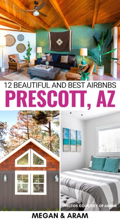 This Airbnb Prescott guide will help you find the right accommodation (+ pool options!) for your trip to the Arizona city, regardless of budget! Read for more! | Prescott Airbnbs | Prescott vacation rentals | Best Airbnbs in Arizona | Arizona Airbnbs | Desert Airbnbs | Prescott accommodation | Where to stay in Prescott | Things to do in Prescott | Prescott itinerary | Prescott cottages | Prescott cabins | Prescott rentals with pools | Prescott budget travel