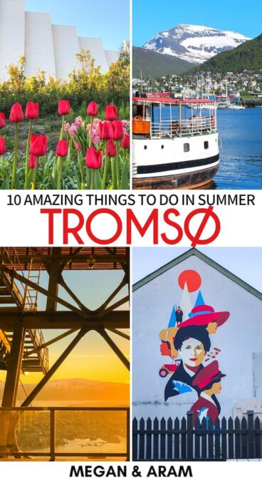 Are you planning a trip to Tromso in summer? This guide details things to do during summer in Tromso, midnight sun travel tips, where to stay, and more! | Tromsø summer | Things to do in Tromso, Norway | Summer Tromsø | Arctic Norway | Tromso June | Tromso July | Tromso August | Tromso May | Tromso Midnight Sun | Norway midnight sun | Tromso hiking | Tromso camping | Northern Norway summer | Visit tromso | Tromso travel tips