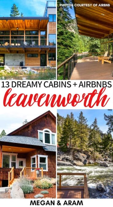 Are you planning a trip to the Enchantments and are looking for the best Airbnbs in Leavenworth, WA? This guide gives some great Leavenworth cabins to consider. | Lodging Leavenworth | Cabins Leavenworth | Airbnb Leavenworth WA | Airbnbs in Washington | Airbnb Enchantments | Airbnb PNW | Best cabins in Leavenworth | Best cabins in the Enchantments | Leavenworth lodging | Leavenworth rentals | Leavenworth cottages | Leavenworth chalets