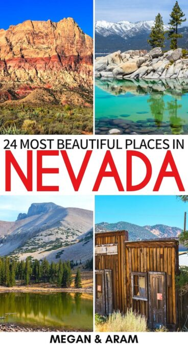 Are you planning a trip to the southwest and are looking for the best places to visit in Nevada? Click to read more about these mind-blowing Nevada attractions! | Place in Nevada | Nevada destinations | Nevada bucket list | Nevada itinerary | Things to do in Nevada | Las Vegas day trips | Lake Tahoe | Cathedral Gorge | Valley of Fire State Park | Ely Nevada | Where to go in Nevada | What to do in Nevada | Sights in Nevada | Nevada landmarks