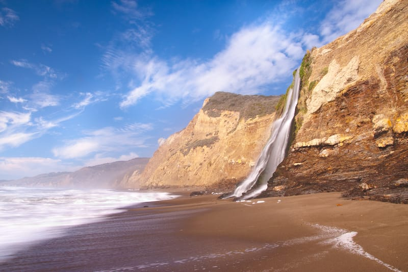 Alamere Falls in Point Reyes National Seashore