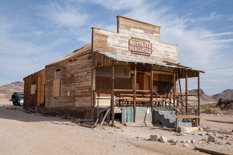 Ghost town Rhyolite, Nevada, USA