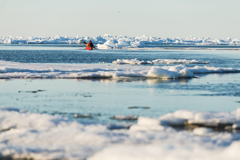 Kayaking in Iqaluit Nunavut