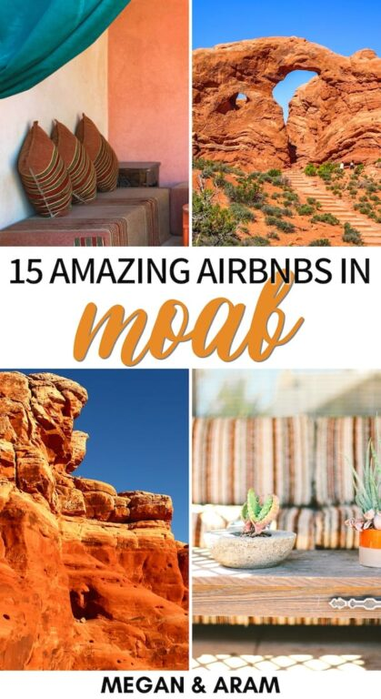 Are you looking for the best Moab Airbnbs for your Utah trip? These are the best Airbnbs near Arches National Park - campers, hot tubs, cottages, and more! | Airbnb Arches National Park | Airbnb Moab | Airbnbs in Moab | Moab where to stay | Moab accommodation | Moab rentals | Moab camping | Moab glamping | Moab Airbnb rentals | Arches National Park glamping | Arches National Park accommodation | Arches National Park camper RV | Arches National Park where to stay