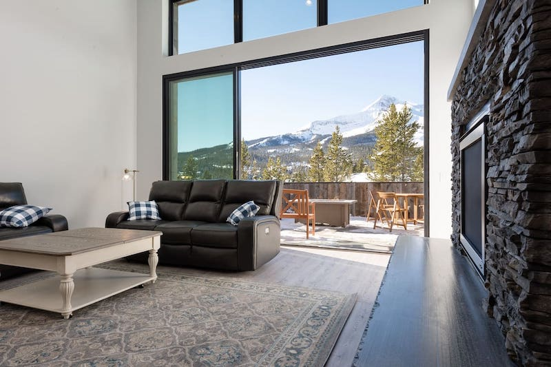 New, Modern House with View of Lone Peak