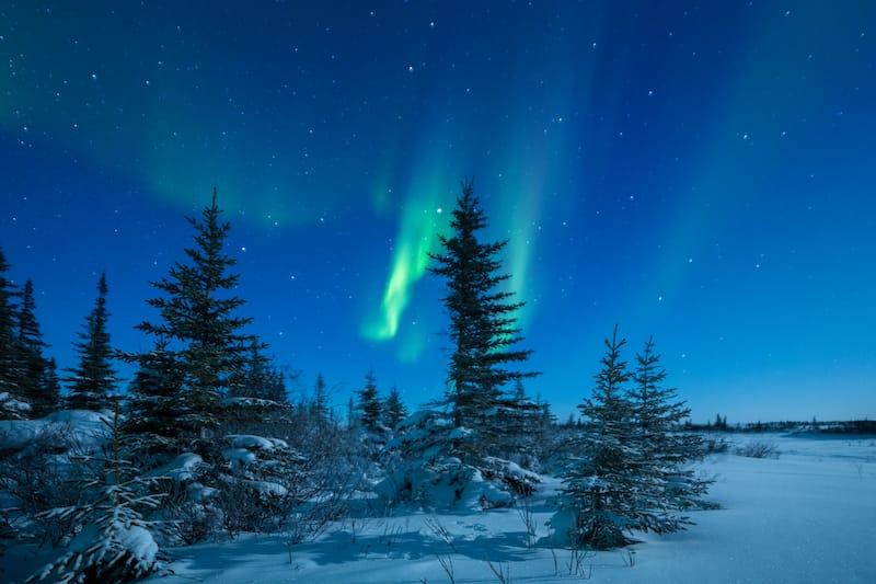 Northern lights in Iqaluit Nunavut