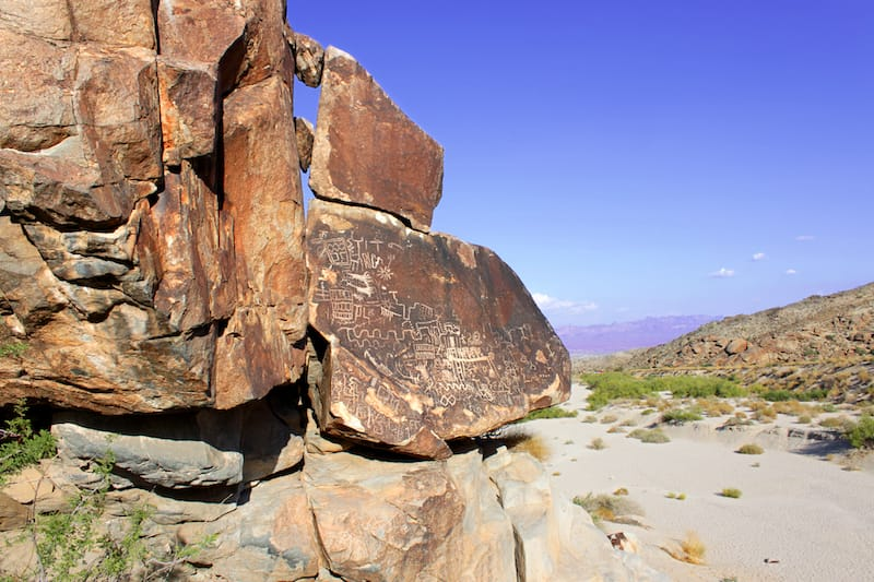 Petroglyphs can be found at Grapevine Canyon in Nevada