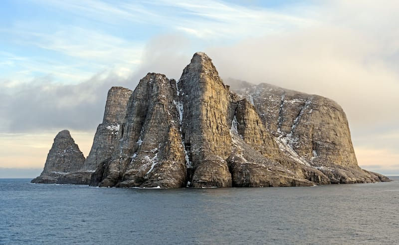 Remote Island in the High Arctic Near Sunneshine Bay near Cape Dyer on Baffin Island in Nunavut, Canada