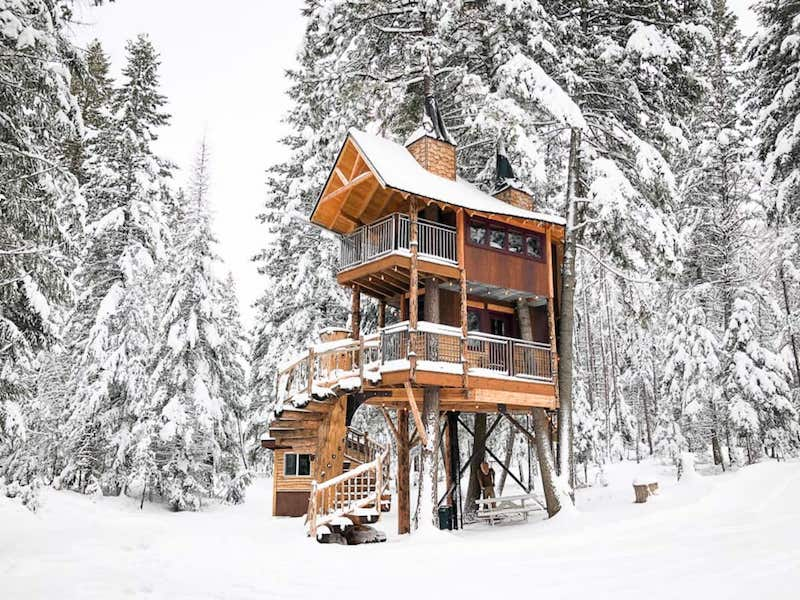 Treehouse in Whitefish MT