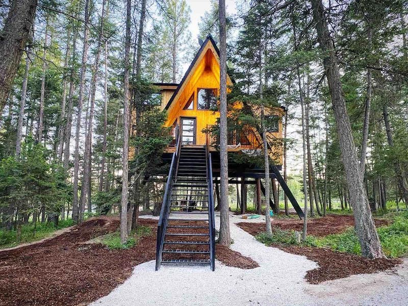 Treehouse in Whitefish Montana area
