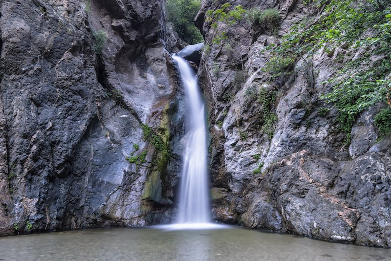 Waterfall at Eaton Canyon in the San Gabriel Mountains near Los Angeles