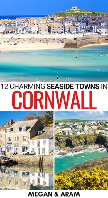 Do you have a trip to Cornwall planned and are looking for the best towns in Cornwall that are located by the sea? This guide will help - map included! | Places to visit in Cornwall | Things to do in Cornwall | What to do in Cornwall | Cornwall landmarks | Cornwall attractions | Cornwall beaches | Cornwall towns | Cornwall villages | Cornwall places to visit | Southwest England places to visit | Cornwall destinations | Cornwall sightseeing | Cornwall itinerary | Cornwall road trip