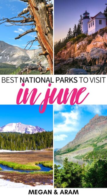 Looking for a good way to start the summer and see some of the best national parks to visit in June? This guide lists our top summer national parks! Learn more! | National parks in June | National parks in summer | Best national parks USA summer | June national parks | USA June destinations | Calfornia national parks in June | USA in June | North America in June | Summer in the USA | Summer in America | US National Parks June