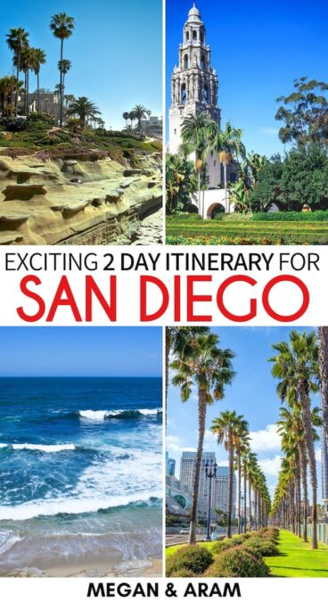 Are you planning to spend 2 days in San Diego and are looking for the best things to do for your weekend? This San Diego itinerary has you covered! Learn more! | Itinerary for San Diego | San Diego 2 days itinerary | Things to do in San Diego | San Diego weekend itinerary | Weekend in San Diego | San Diego things to do | What to do in San Diego | Where to stay in San Diego | San Diego Accommodation | Two days in San Diego | Places to visit in San Diego | San Diego travel | Visit San Diego
