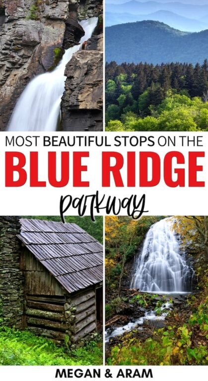 Are you taking a road trip on the Blue Ridge Parkway? This 7 day Blue Ridge Parkway itinerary has you covered - fantastic stops, tips, a map, and more! | Road trip Blue Ridge Parkway | Blue Ridge Parkway stops | Road trips USA | Road trips in North Carolina | North Carolina road trips | Best stops on the Blue Ridge Parkway | Blue Ridge Parkway map | Blue Ridge Parkway things to do | Blue Ridge Parkway hiking | Things to do in Asheville NC | Blue Ridge Parkway NC