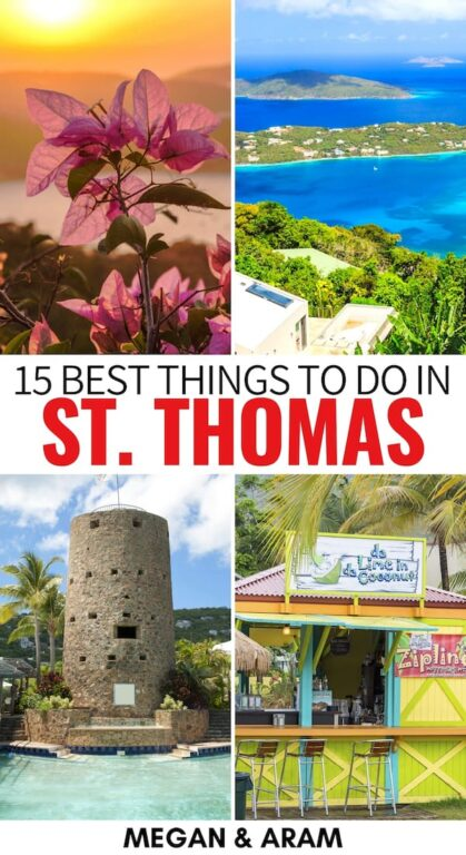 Are you looking for somewhere epic to travel to this year? There are many things to do in St. Thomas that you need to consider it as one of those destinations! | Things to do Virgin Islands | USVI | St. Thomas things to do | What to do on St. Thomas | St. Thomas itinerary | St. Thomas hiking | St. Thomas restaurant | St. Thomas places to visit | Magens Bay | Places to visit US Virgin Islands | St. Thomas travel | Visit St. Thomas | St. Thomas landmarks | St. Thomas attractions