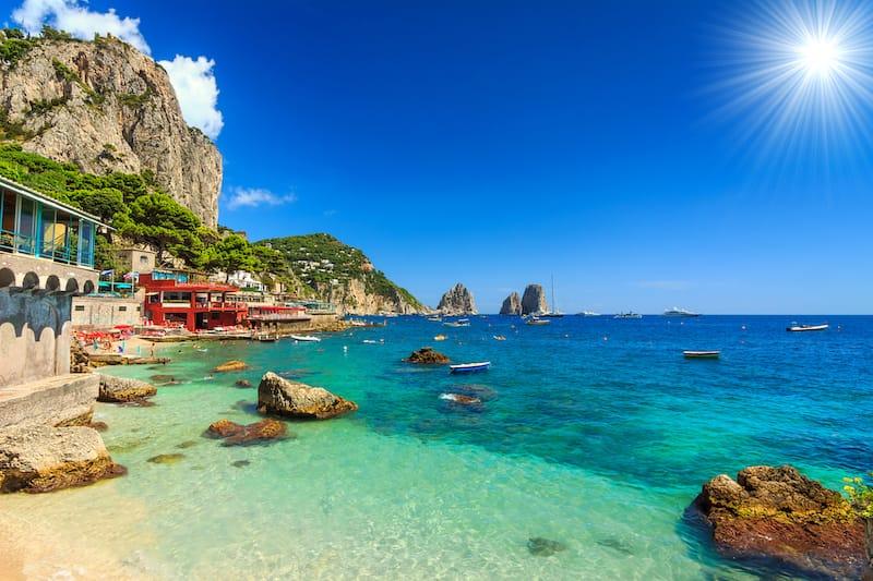 Capri Island in Italy - Faraglioni Cliffs