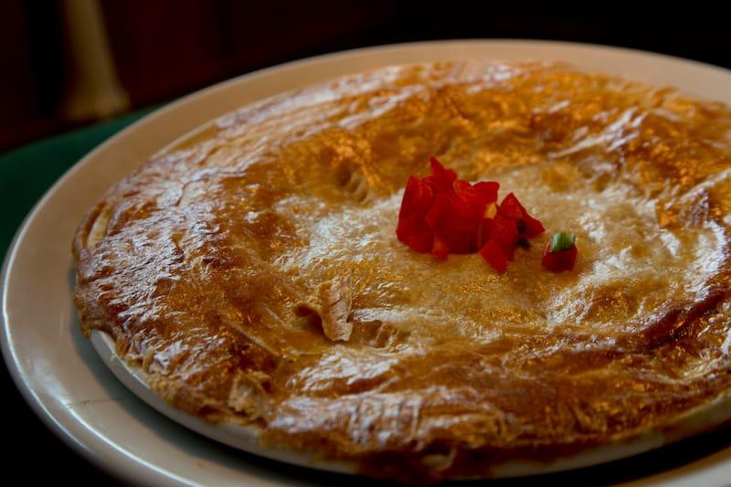 Crawfish pie in New Orleans