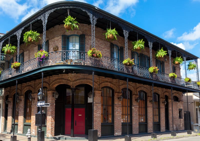 French Quarter in New Orleans LA