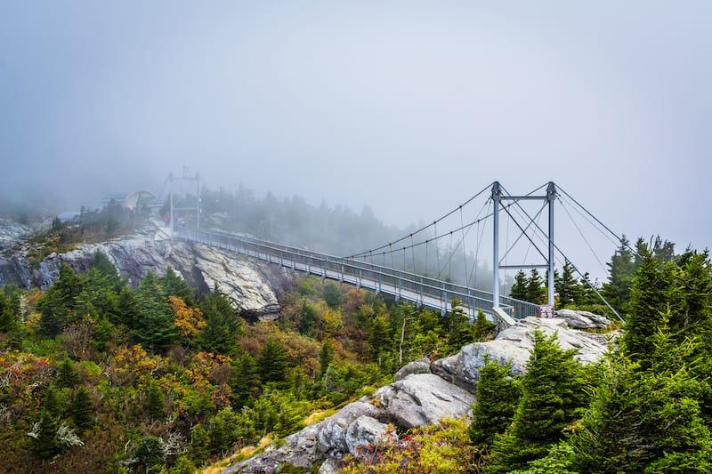 Mile High Swinging Bridge in North Carolina