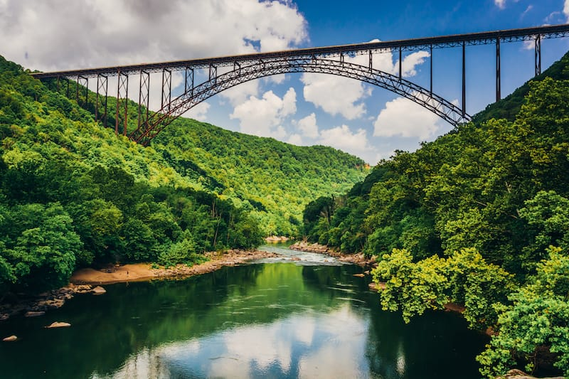 New River Gorge National Park in June