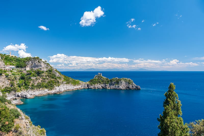 Panoramic view from Conca dei Marini