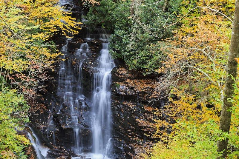 Soco Falls along the Blue Ridge Parkway