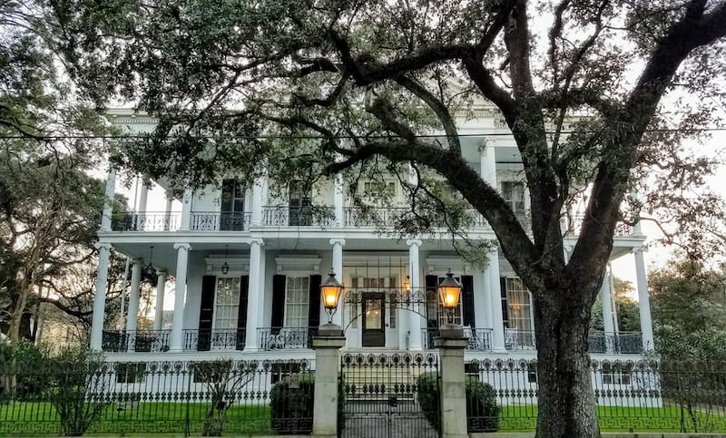 The Garden District in New Orleans