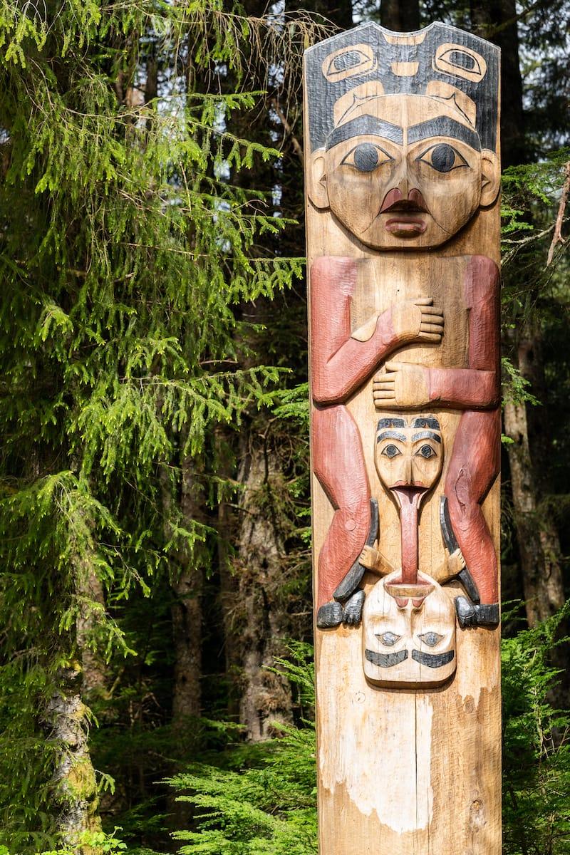 Totem Pole in Sitka Alaska