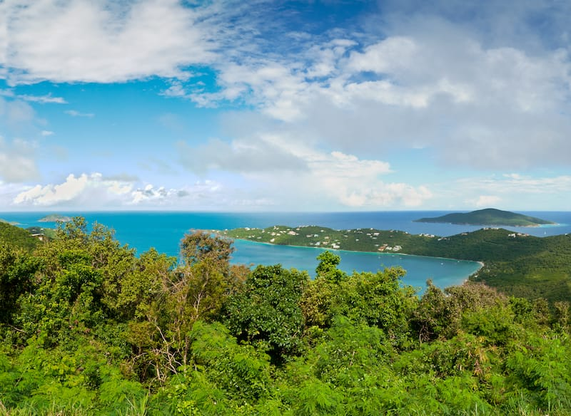 View of Magens Bay from Mountain Top