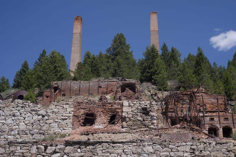 Abandoned silver mine in Philipsburg
