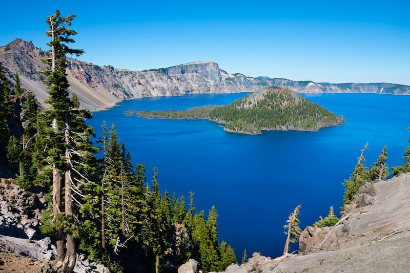 Crater Lake National Park in July