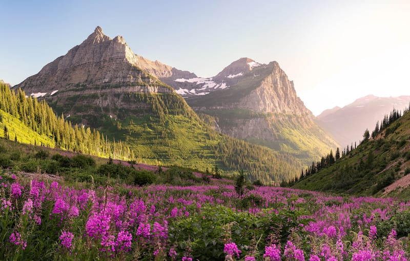 Glacier National Parks - best national parks to visit in July