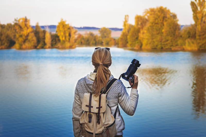 Hiking with a DSLR camera