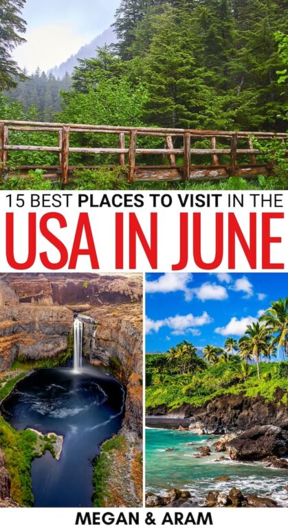 Are you looking for the best places to visit in June in the USA? This guide has you covered - from cities to gorgeous regions and beyond - find out more! | USA in June | USA destinations summer | USA in summer | Best places to visit in USA in summer | Alaska in June | Hawaii in June | California in June | North Carolina in June | Vermont in June | Washington in June | Idaho in June | LA in June | South Carolina in June | Tennessee in June | Ohio in June | Pennsylvania in June | New York in June