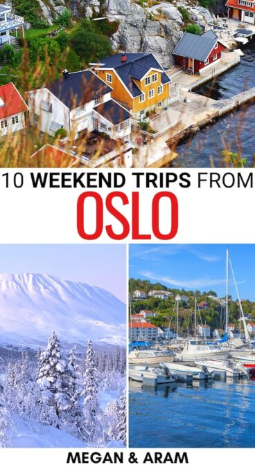Looking for the best weekend trips from Oslo? This guide has you covered - these are some diverse weekend getaways from Oslo - from nature to cities! (+ MAP!) | Things to do in Oslo | Places to visit in Norway | Norway destinations | What to do in Norway | What to do in Oslo | Oslo day trips | Oslo weekend trips | Oslo weekend getaways | Hiking near Oslo | Skiing near Oslo | Kragerø | Risør | Rjukan | Norway itinerary